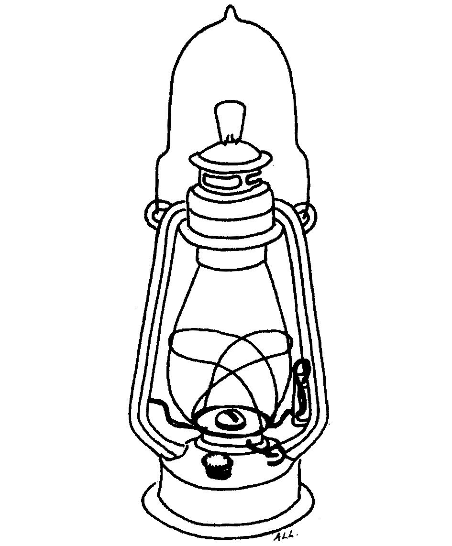 Hurricane Line Drawing Lantern Hurricane Lamp